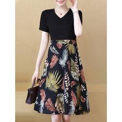 Berrylook Heart Collar Printed Shift Dress shoppers stop, shoping, printing Shift Dresses, below the knee dresses, sheath dress