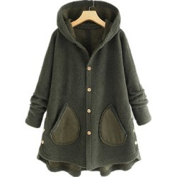Berrylook Hooded Plain Coat stores and shops, clothing stores, plain Coats, womens winter jackets canada, army jacket womens