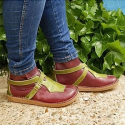 Berrylook Color Block Round Toe Boots stores and shops, online sale,