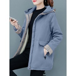 Berrylook Casual solid color pocket coat online sale, shoppers stop, warm jackets for women, cute jackets