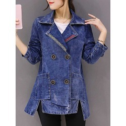 Berrylook long section slim large size trench Jacket shoppers stop, online shop, Long Jackets, leather jacket, ladies jacket