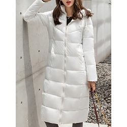 Berrylook Women's Fashion Solid Color Hooded Cotton Coat online shop, clothes shopping near me, Solid Coats, fur hood coat womens, warm jackets for women
