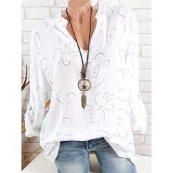 Berrylook V Neck Loose Fitting Print Blouses online stores, online sale, white shirt womens, black blouse found on Bargain Bro India from Berrylook for $17.95