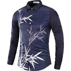 Berrylook Bamboo Printed Long Sleeve Men Shirts clothing stores, clothes shopping near me, Print Men Shirts,