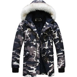 Berrylook Hooded Camouflage Flap Pocket Men Coat clothing stores, clothes shopping near me,