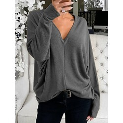 Berrylook V Neck Plain Long Sleeve T-shirt shoppers stop, shoping, found on Bargain Bro India from Berrylook for $15.95