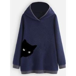 Berrylook Brief Printed Long Sleeve Hoodie online sale, sale, printed Hoodies, hoodie, women's sweatshirts