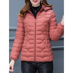 Berrylook Solid color Slim warm small cotton coat online sale, shoppers stop, Solid Coats, white winter coat, cute winter coats
