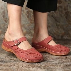 Berrylook Casual Women Solid Color Hollow Out Sandals clothing stores, sale,