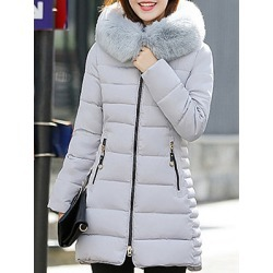 Berrylook Hooded Plain Long Sleeve Coats clothes shopping near me, sale, red leather jacket womens, womens parka coats