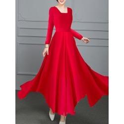 Berrylook Round Neck Plain Maxi Dress shoping, online sale, Solid Maxi Dresses, halter dress, homecoming dresses