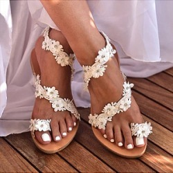 Berrylook Bohemian Flat Peep Toe Casual Date Flat Sandals shop, online shopping sites, found on MODAPINS from Berrylook for USD $23.95