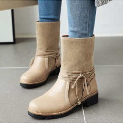 Berrylook Women's fashion solid color boots shoppers stop, online shop,