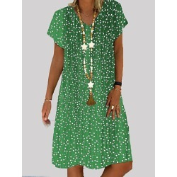 Berrylook V Neck Printed Shift Dress stores and shops, clothing stores, shift dress, shift dress pattern found on MODAPINS from Berrylook for USD $19.95
