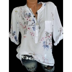 Berrylook V Neck Loose Fitting Print Blouses cheap online shopping sites, clothing stores, printed Blouses, cute tops for women, black blouse found on Bargain Bro Philippines from Berrylook for $18.95