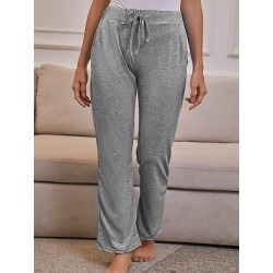Berrylook Women's fashion loose solid color wild casual trousers online shop, sale, found on Bargain Bro from Berrylook for USD $13.64