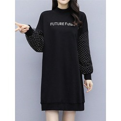 Berrylook Long Sleeve Solid Color Round Neck Dress clothes shopping near me, stores and shops, semi formal dresses, shirt dress found on MODAPINS from Berrylook for USD $19.95