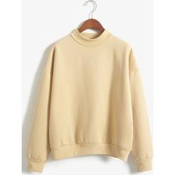 Berrylook Crew Neck Plain Sweatshirt online sale, cheap online stores, zip hoodie, mens sweatshirts