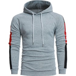 Berrylook Color Block Long Sleeve Men Hoodie clothing stores, clothes shopping near me, Color Men Hoodies,