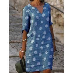 Berrylook V-neck Polka Dot Print Dress online shopping sites, online, semi formal dresses, shirt dress found on MODAPINS from Berrylook for USD $20.95