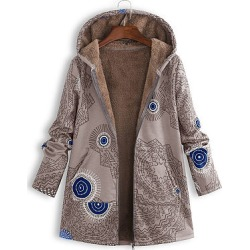 Berrylook Hooded Abstract Print Coat shoppers stop, shop, parka jacket women, ladies jacket