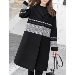 Berrylook Fashion Stitching Long Coat stores and shops, shoppers stop, Long Coats, womens winter jackets canada, jackets