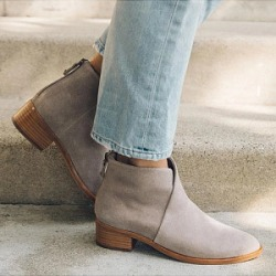 Berrylook Women's Casual Low Heel Round Toe Low Boots sale, cheap online shopping sites, Solid Ankle Boots,