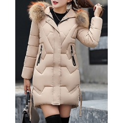 Berrylook Hooded Fur Collar Plain Coat shoping, online, red leather jacket womens, ladies jacket