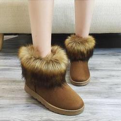 Berrylook Plus Velvet Warm Winter Snow Boots online sale, stores and shops, Solid Boots,