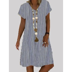 Berrylook V- Neck Printed Shift Dress clothes shopping near me, online shop, tunic dress, shift dress pattern found on MODAPINS from Berrylook for USD $20.74