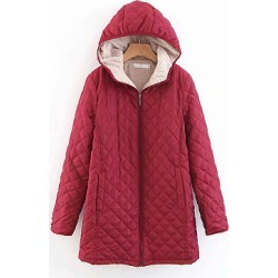 Berrylook Hooded Quilted Plain Coat sale, online, mens coats sale, warm coats for women