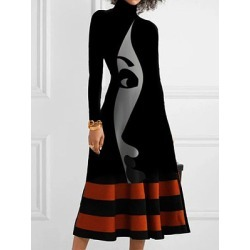 Berrylook Casual Color Block Shirt Round Neckline Shift Dress online sale, shop, semi formal dresses, long formal dresses found on MODAPINS from Berrylook for USD $24.95