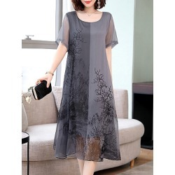 Berrylook Plus Size Printed Shift Dress clothing stores, clothes shopping near me, shift dress pattern, sleeveless shift dress found on MODAPINS from Berrylook for USD $25.69