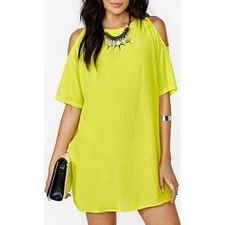 Berrylook Open Shoulder Plain Daily Shift Dress sale, shoping, shift dress pattern, womens linen clothing