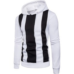 Berrylook Color Block Vertical Striped Men Hoodie clothing stores, clothes shopping near me, Color Men Hoodies,
