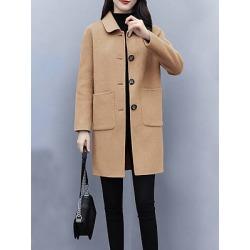 Berrylook Woolen coat Korean autumn and winter woolen coat stores and shops, clothing stores, black coat womens, white coat womens