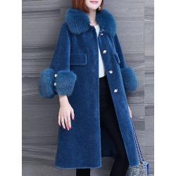 Berrylook Faux Fur Collar Coat shoping, shoppers stop, mens coats sale, warm jackets for women