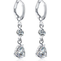Berrylook Rhinestoned Faux Crystal Oval Drop Earrings online stores, online, found on Bargain Bro from Berrylook for USD $3.76
