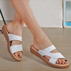 Berrylook Plain Low Heeled Peep Toe Casual Slippers clothing stores, clothes shopping near me,