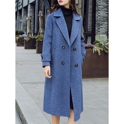 Berrylook Notch Lapel Plain Outerwear online sale, cheap online shopping sites, black jacket mens, warm jackets for women