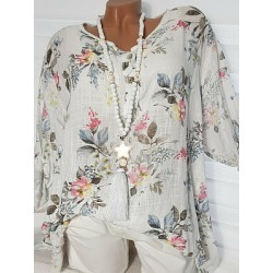Berrylook Round Neck Loose Fitting Printed Blouses online shop, online, white shirt womens, white shirt womens found on Bargain Bro Philippines from Berrylook for $18.95