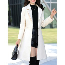 Berrylook Notch Lapel Plain Coat stores and shops, shoping, red leather jacket womens, ladies jacket