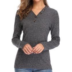Berrylook V Neck Brief Plain Long Sleeve Knit Pullover online sale, sale, cashmere sweater, cropped sweater