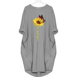 Berrylook Round Neck Slit Pocket Plain Shift Dress shop, sale, shirt dress, semi formal dresses found on MODAPINS from Berrylook for USD $20.95
