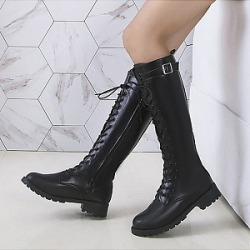 Berrylook Plain Flat Round Toe Date Outdoor Thigh High Flat Boots stores and shops, online sale,