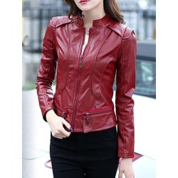 Berrylook Small leather women short slim jacket jacket clothing stores, online stores, ladies jacket, leather jacket