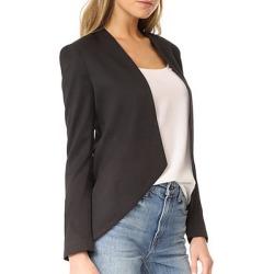 Collarless Plain Long Sleeve Blazers