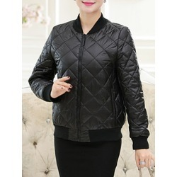Berrylook PU Diamond Pressed Cotton Leather Baseball Uniform stores and shops, clothes shopping near me, red leather jacket womens, best winter coats found on Bargain Bro from Berrylook for USD $29.60