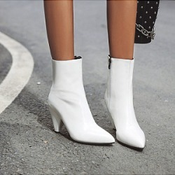 Berrylook Women's Casual Solid Color Pointed Boots stores and shops, online sale, Solid High Heels Boots,