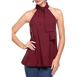 Berrylook Plain Sleeveless Blouse online sale, sale, blouses for women, shirts & tops